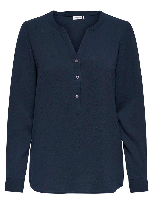 Jacqueline de Yong Off Shoulder Bluse 40 dunkelblau weiß Maritim Tunika