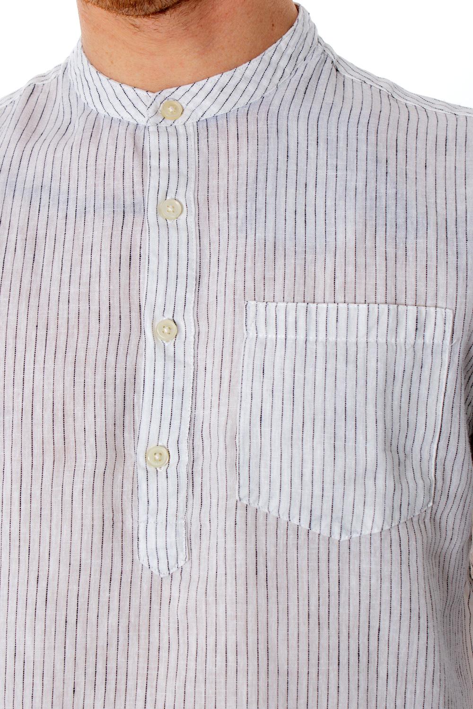 Only /& Sons Man Long Sleeve Shirt Caiden ls Stripe Half Placket 22013418 XL Blue
