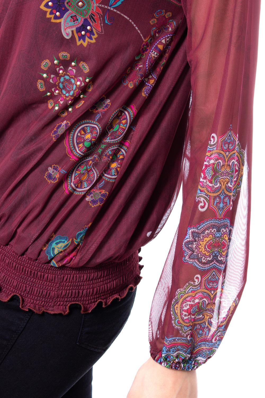 Details about Desigual Woman t shirt long sleeve ts andora 19wwtkbw