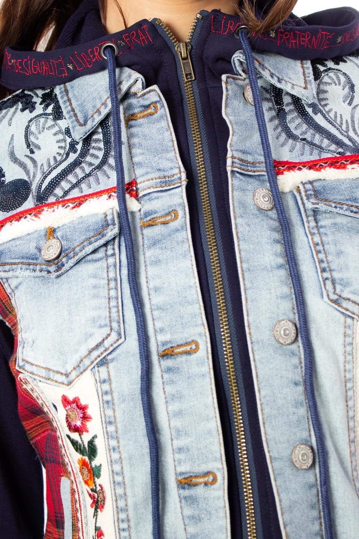 jeans jacke liberte mit blumen