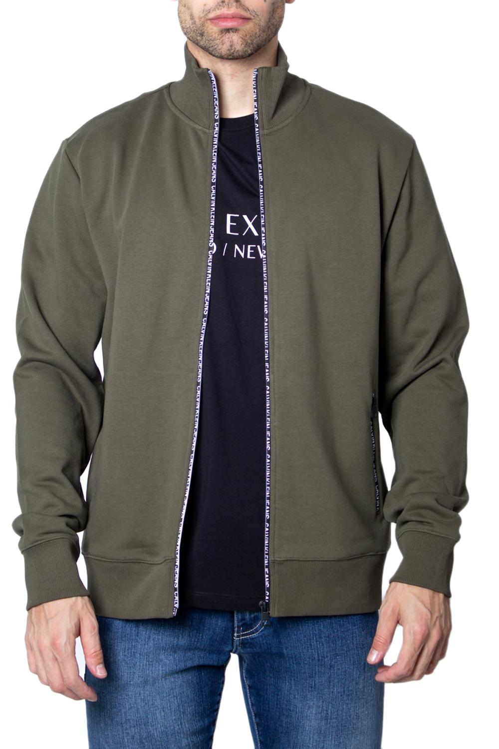 Details zu Calvin Klein Jeans Sweatshirt herren track jacket zip through j30j313677